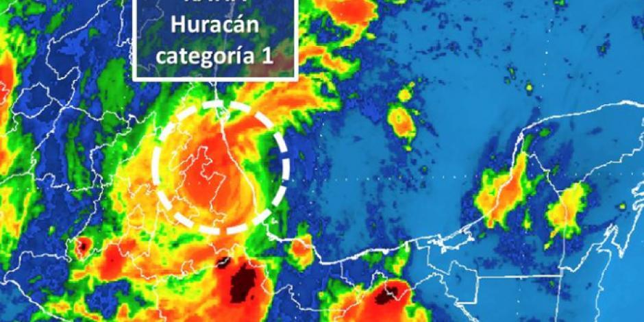 <em>Katia</em> toca Veracruz y se debilita a huracán categoría 1