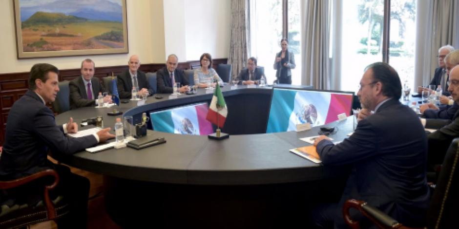Se reúne EPN con europarlamentarios del Partido Popular Europeo
