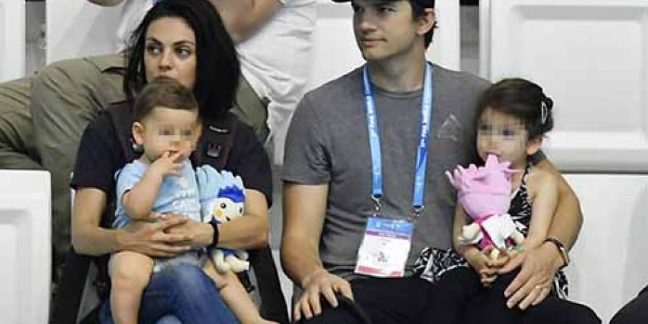 Ashton Kutcher enfurece por fotos publicadas de sus hijos
