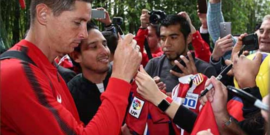 Atlético de Madrid llegó a México para enfrentar al Toluca