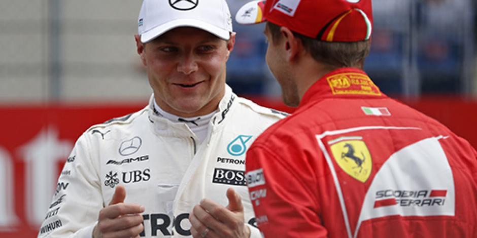 Bottas supera a Vettel y largará primero en el GP de Austria