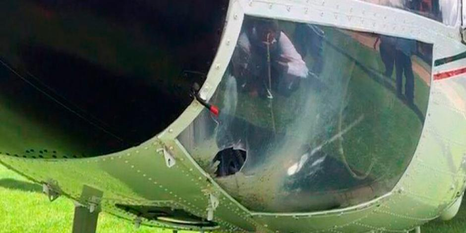 EPN condena ataque a helicóptero presidencial en Oaxaca
