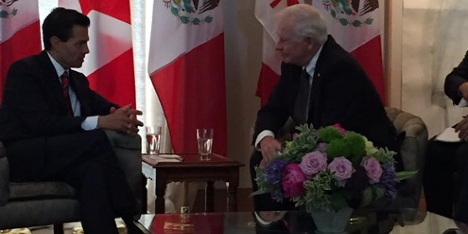 México-Canadá comparten objetivos de desarrollo, apunta EPN