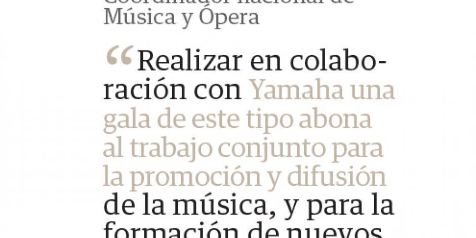 Estrellas de Yamaha proyectan su pasión en Bellas Artes