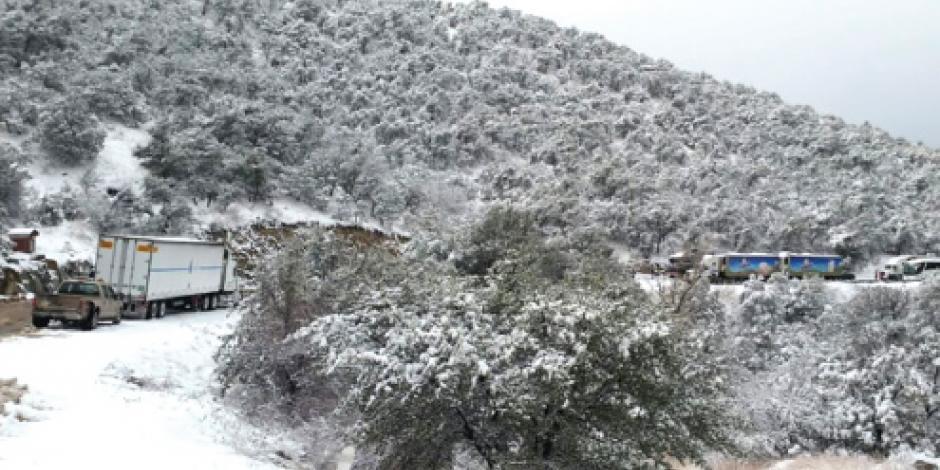 Heladas azotan al país; nevadas en el norte; en Edomex hasta -5
