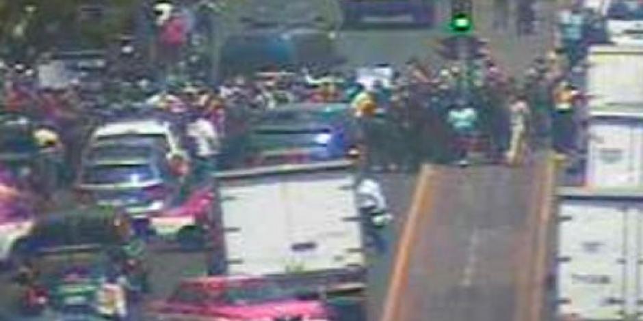 Marchas provocan caos en calles de la CDMX