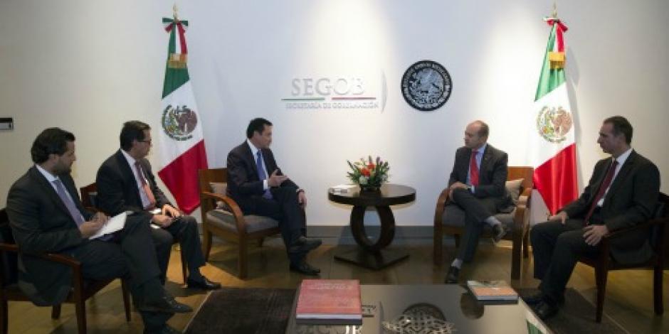 Osorio Chong se reúne con titulares de CIDH