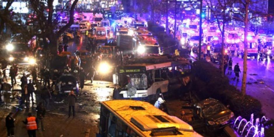 Condena Washington atentado en Ankara, Turquía