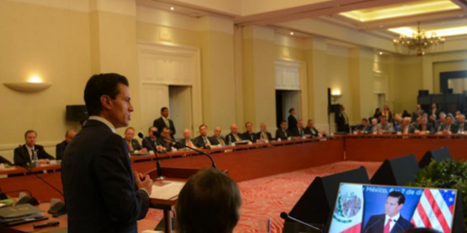 México - EU deben mantener trabajo juntos para ser más productivos, reitera EPN