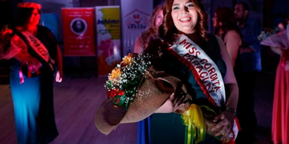 Paraguaya de 23 años gana concurso de Miss Gordita