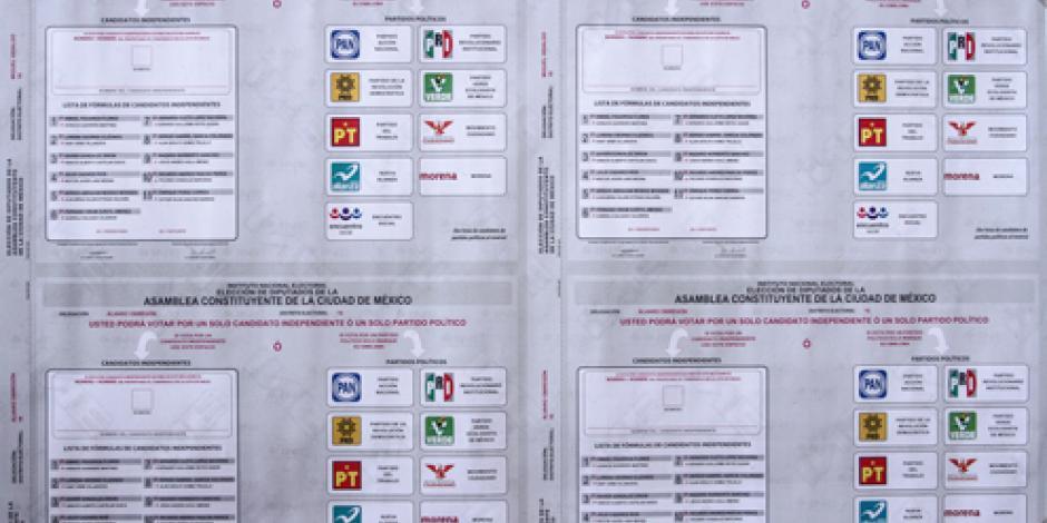 Listas más de 8 millones de boletas para elección Constituyente, informa INE