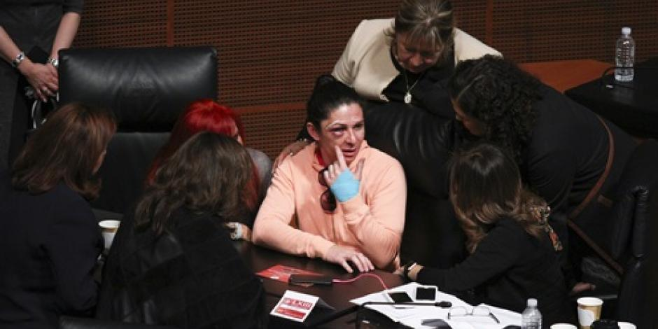 Ana Guevara propone al Senado cruzada contra la violencia a la mujer