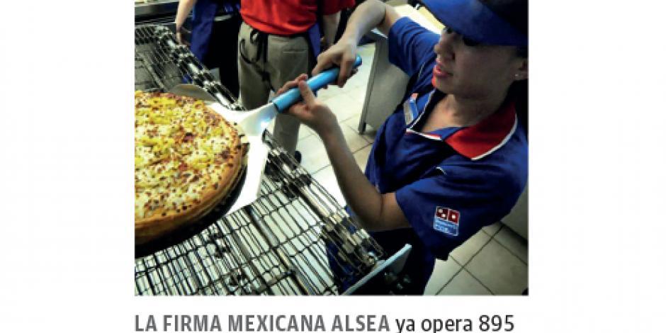 Alsea va por 22 tiendas más de Domino's Pizza