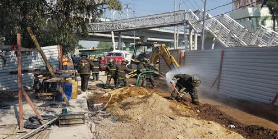 Controlan fuga de gas en Río San Joaquín