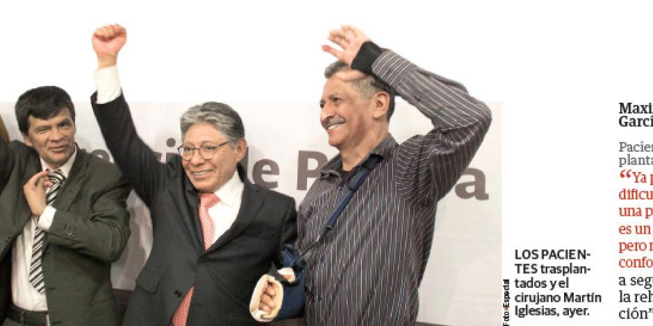 Mexicanos realizan 2 trasplantes de brazos