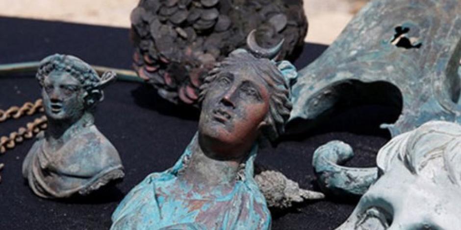 Localizan frente a la costa israelí un tesoro hundido hace mil 600 años