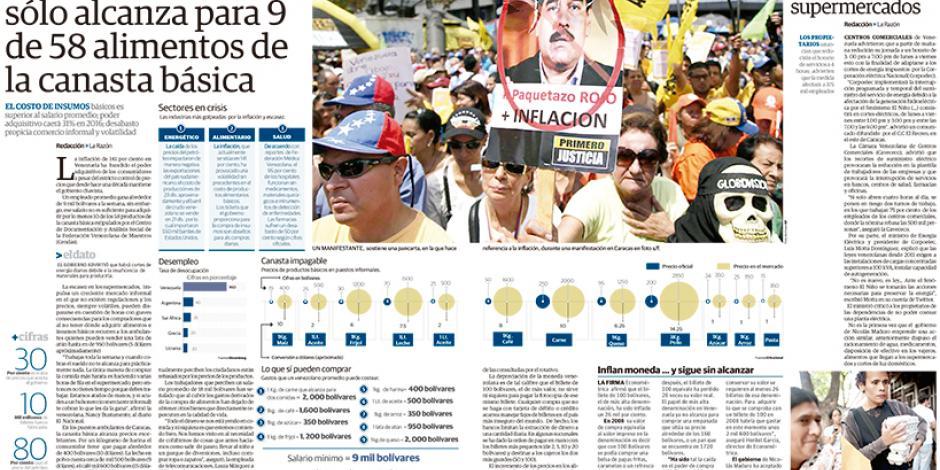 Sueldo en Venezuela sólo alcanza para 9 de 58 alimentos de la canasta básica