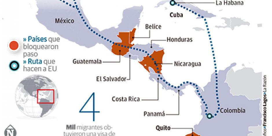 Cierre de frontera de Panamá deja varados a 250 cubanos