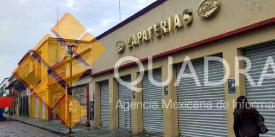 Protestan en Oaxaca con paro de comercios