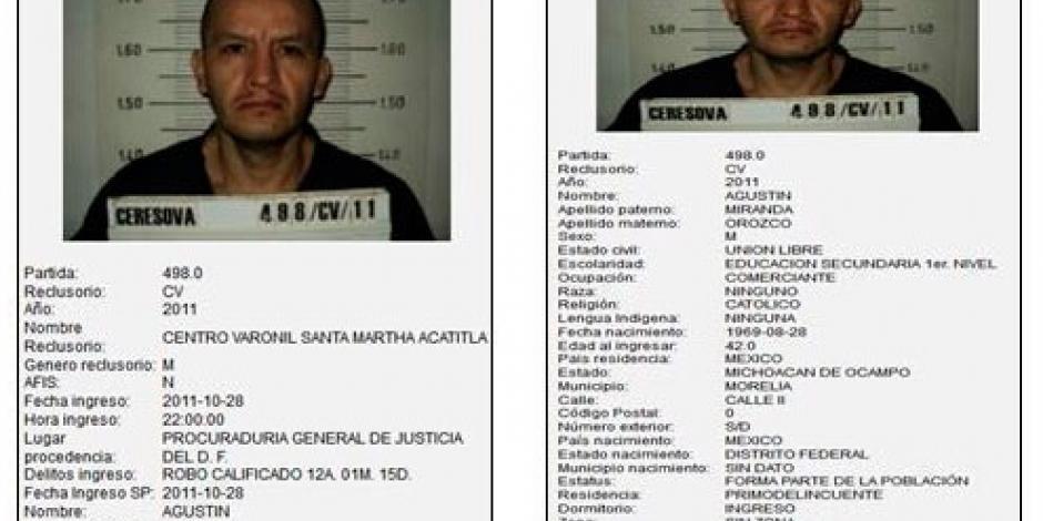 Por descuido, fuga de 2 reclusos, señalan autoridades