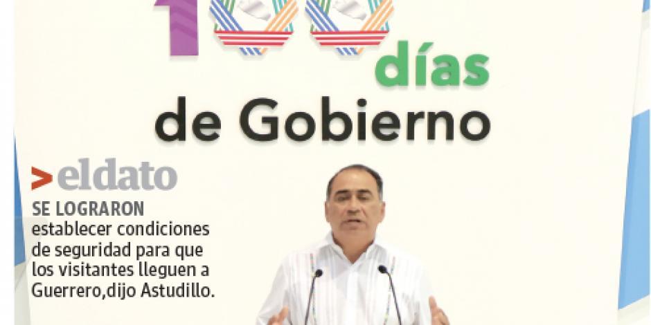 Astudillo afirma que en Guerrero se recuperó la gobernabilidad