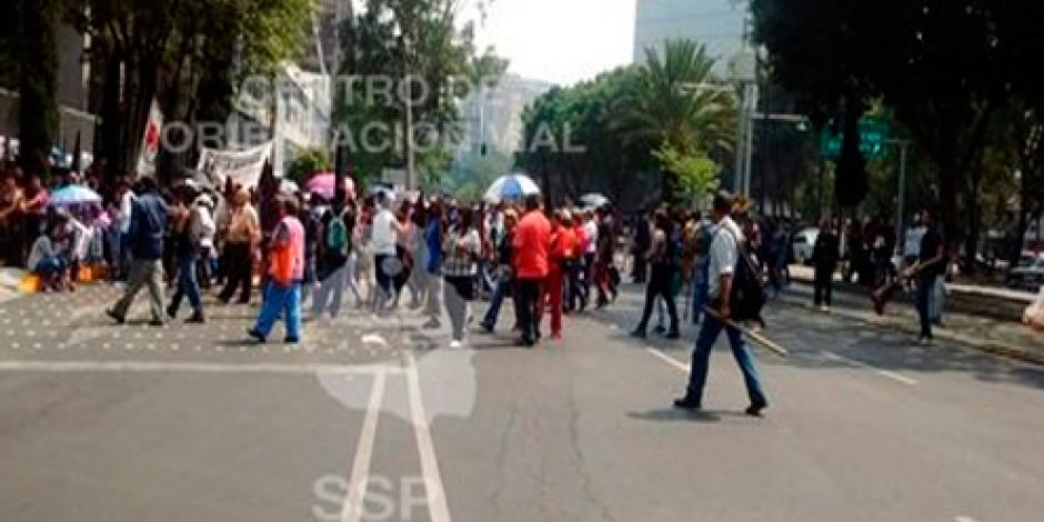 Manifestantes provocan caos en la CDMX