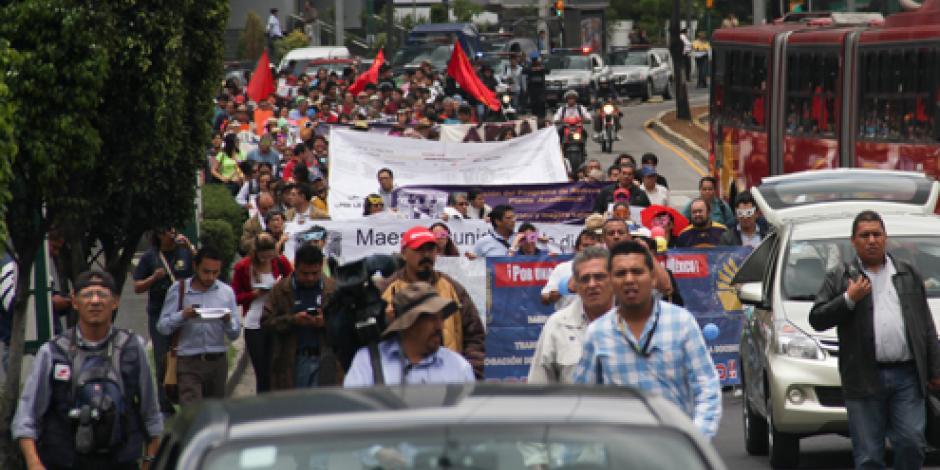 Prevén 4 marchas en la delegación Cuauhtémoc