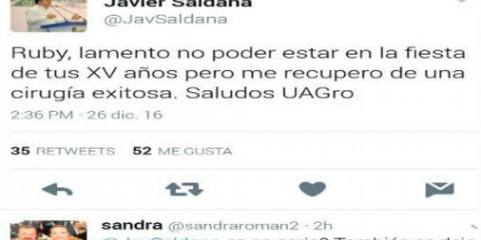 Rector de la Universidad de Guerrero se disculpa con Rubí por no ir a su fiesta