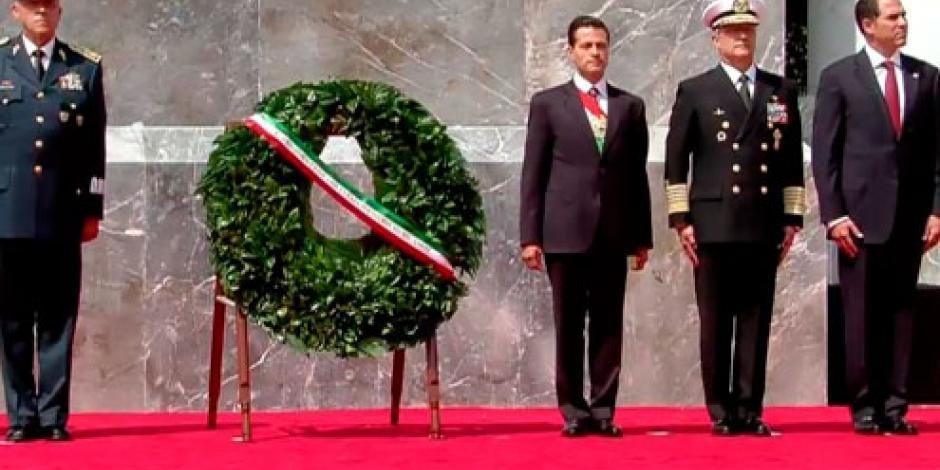 EPN conmemora Gesta de los Niños Héroes de Chapultepec