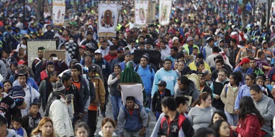 Basílica de Guadalupe reporta una afluencia de un millón 800 mil fieles