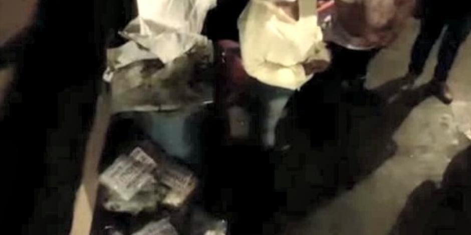 VIDEO: Captan entrega de despensas de Morena en Coyoacán