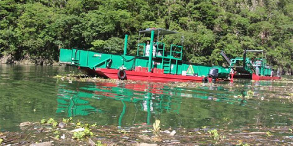 Al día retiran 32 toneladas de desechos del Cañón del Sumidero