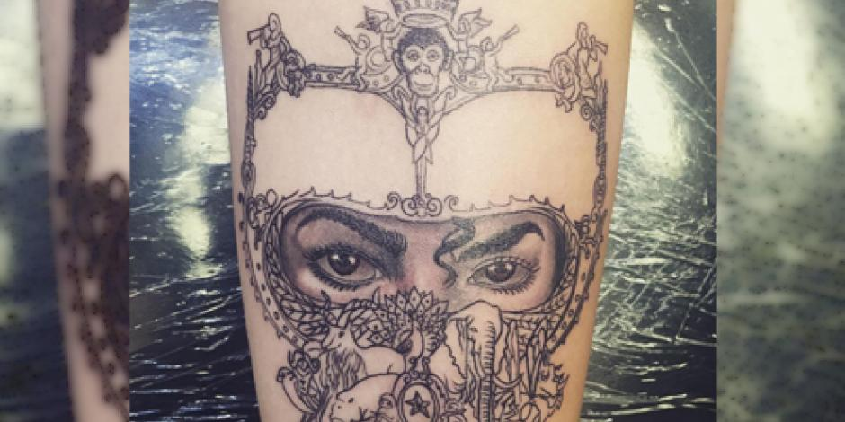 "Hija de Michael Jackson se tatúa ""Dangerous"" en honor a su padre"