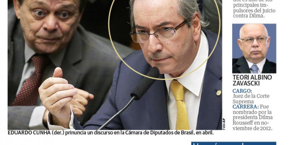 Cesan a diputado que impulsa juicio político contra Rousseff