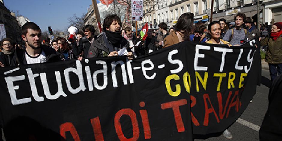 Miles se manifiestan en Francia contra la reforma laboral
