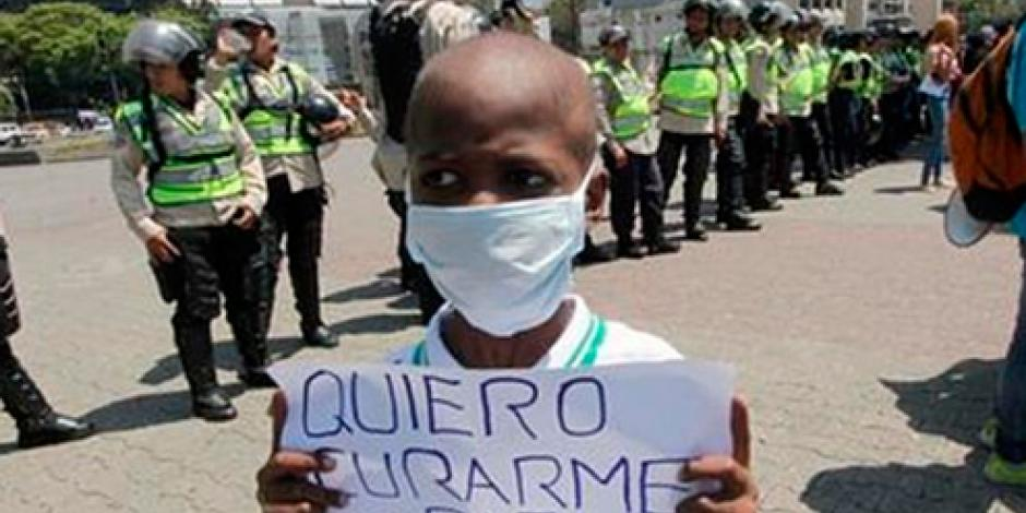 Muere niño por falta de quimio en Venezuela