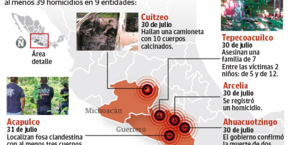 Hallan tres cuerpos en fosa de Acapulco