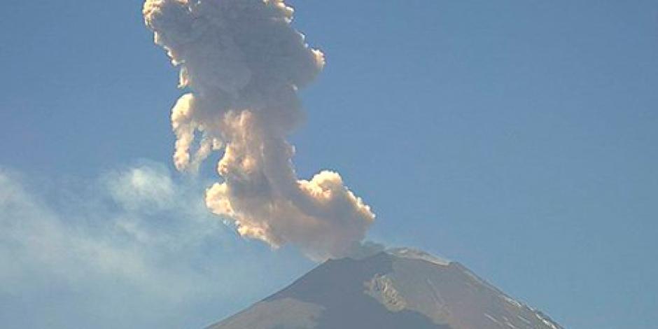 Popocatépetl registra 54 exhalaciones y 3 explosiones