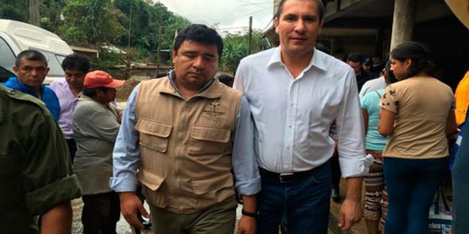 Recorre gobernador Rafael Moreno zonas afectadas por