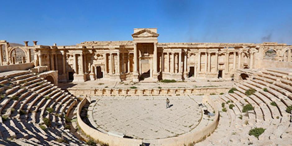 Rusos construyen base militar en Palmira