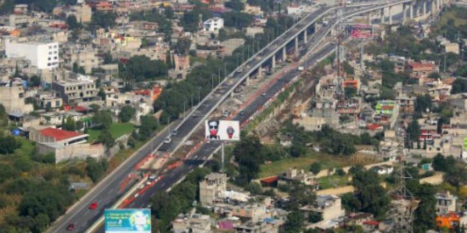 Reportan avance de 90% en autopista urbana sur