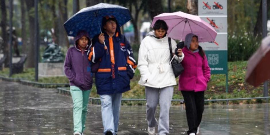 Llueve de manera ligera en 4 delegaciones