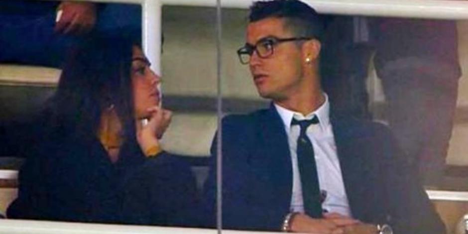 Cristiano Ronaldo lleva a su nueva novia al Bernabéu