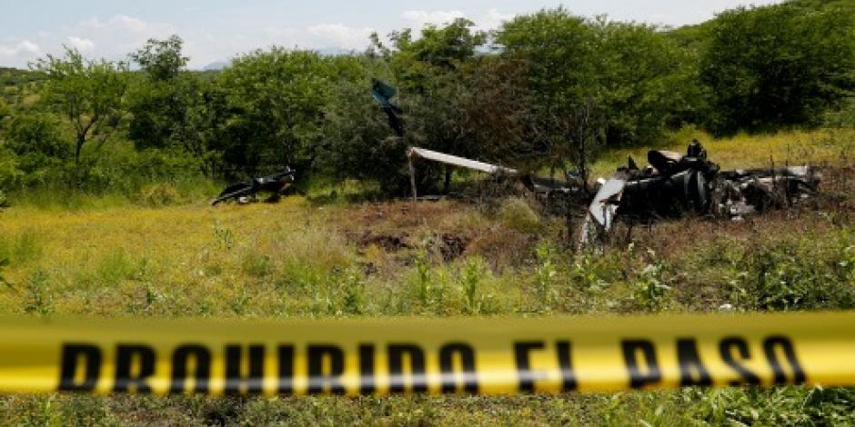 Caída de helicóptero deja 3 heridos en Ciudad Victoria