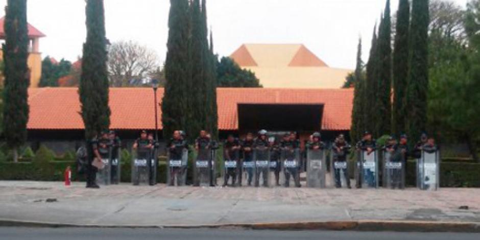 Blindan Centro de Convenciones de Morelia por evaluación educativa