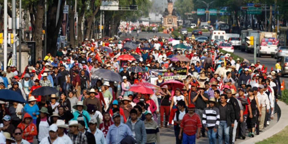 Prevén 4 movilizaciones en calles de la CDMX