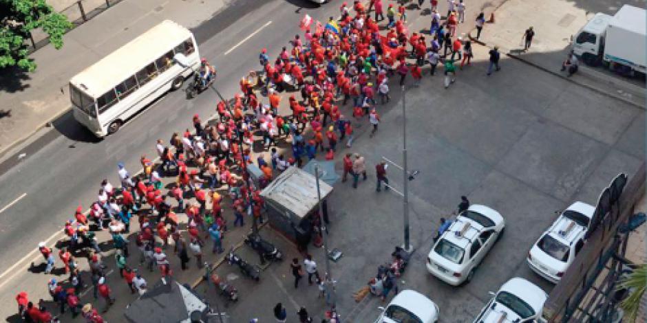 Fracasa marcha del chavismo en apoyo  a Nicolás Maduro