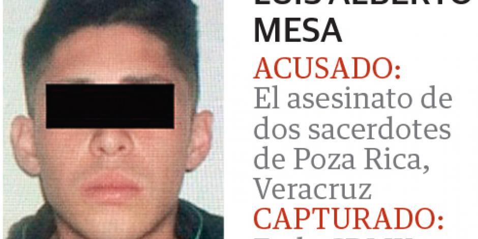 Cae asesino de dos curas de Poza Rica en la CDMX
