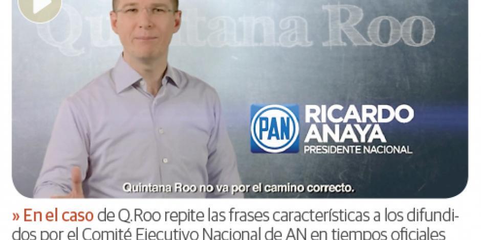 Anaya ya se adueñó de spots en Q.Roo, Veracruz, Tamaulipas...