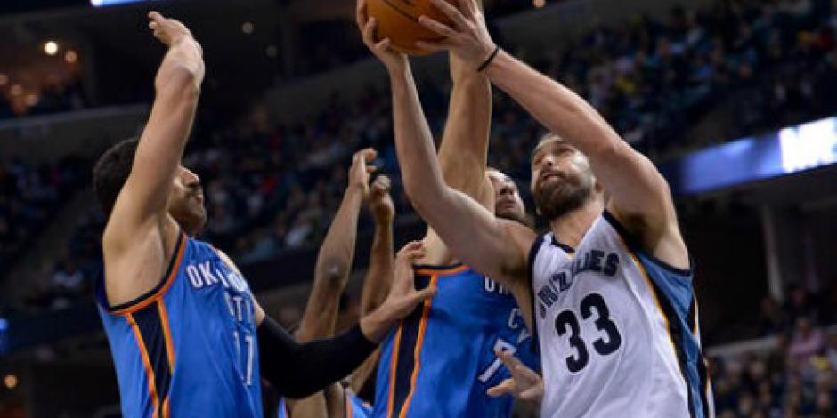 Gasol lleva a Grizzlies a la victoria ante Thunder